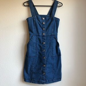H&M denim button dress